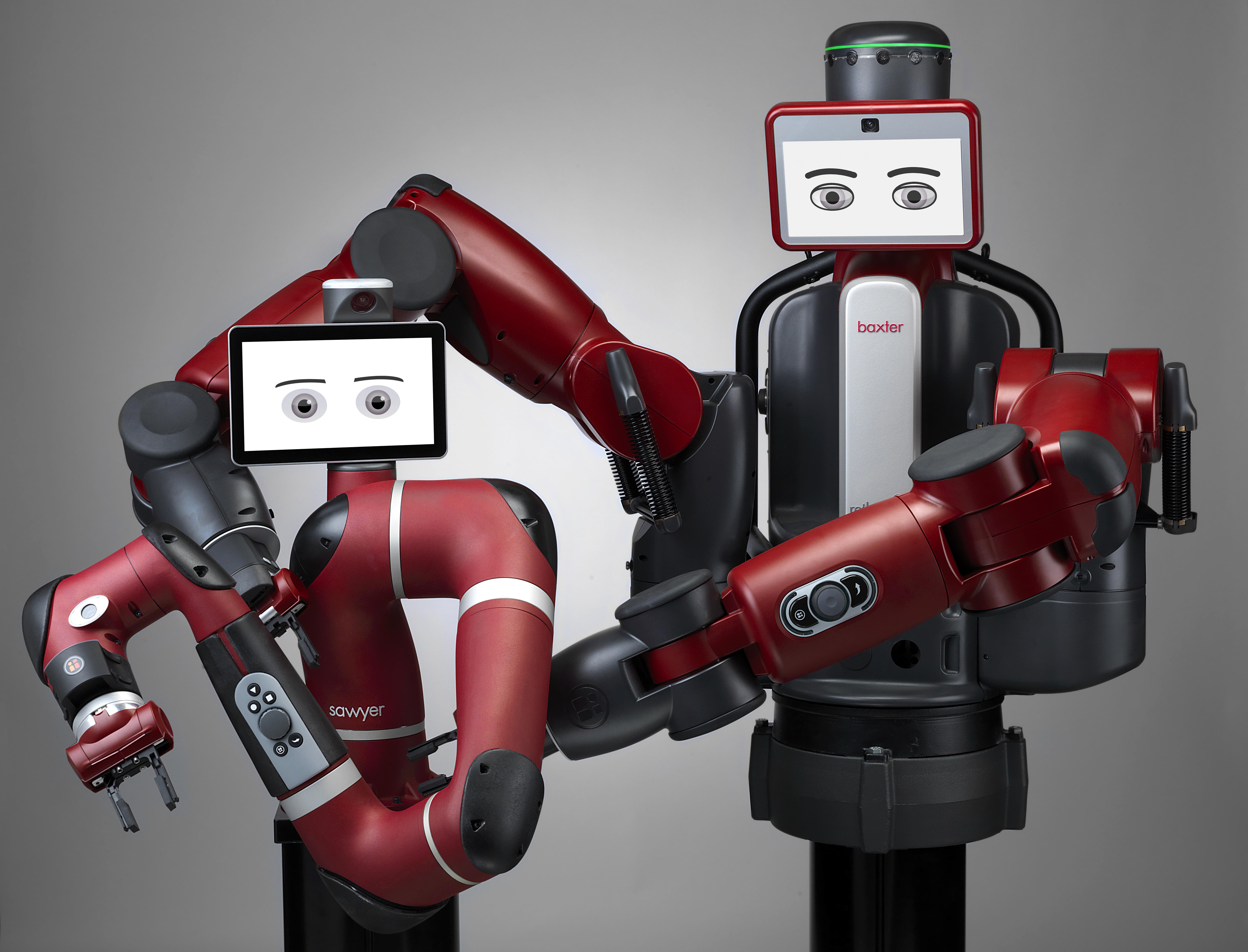 Les cobots sawyer et baxter de Rethink Robotics Baxter et Sawyer