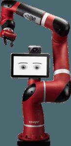 Robot sawyer avec pied détouré