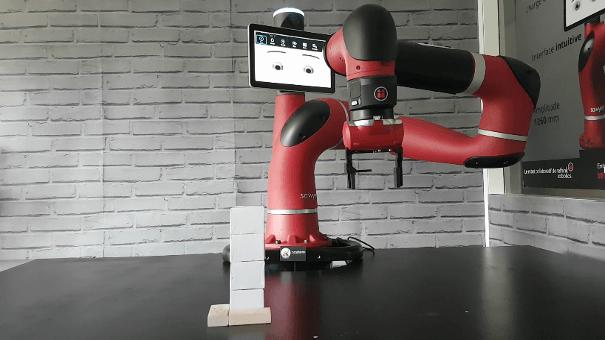 Le cobot sawyer sur une application de dépilage