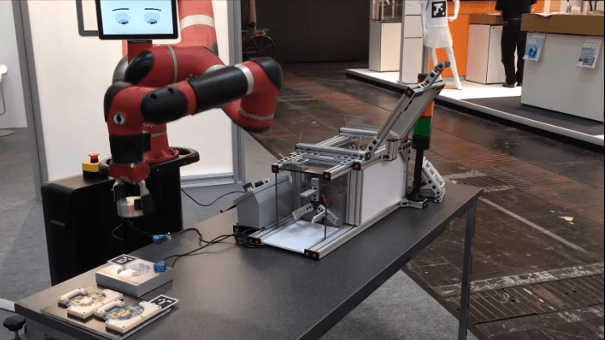 cobot sawyer chargement machine