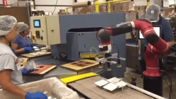 cobot sawyer chargement déchargement