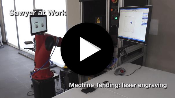 Cobot Sawyer - Machine gravure laser