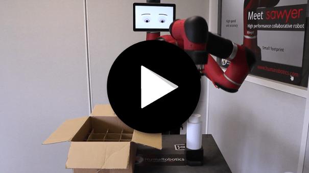 Cobot Sawyer - Packaging avec préhenseurs pneumatiques