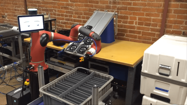 cobot sawyer racking