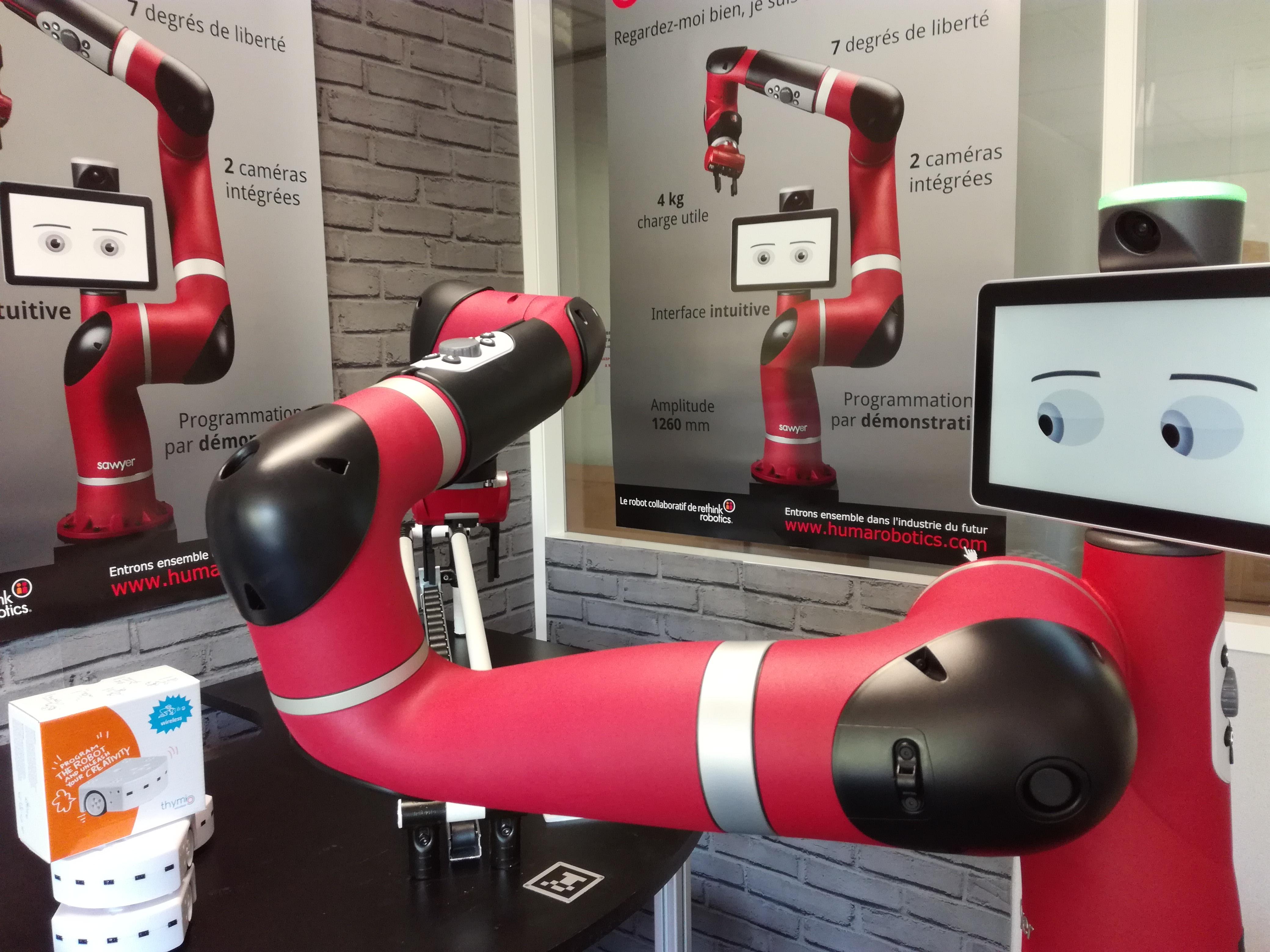Equipe Homme Robot sur la création de Thymio
