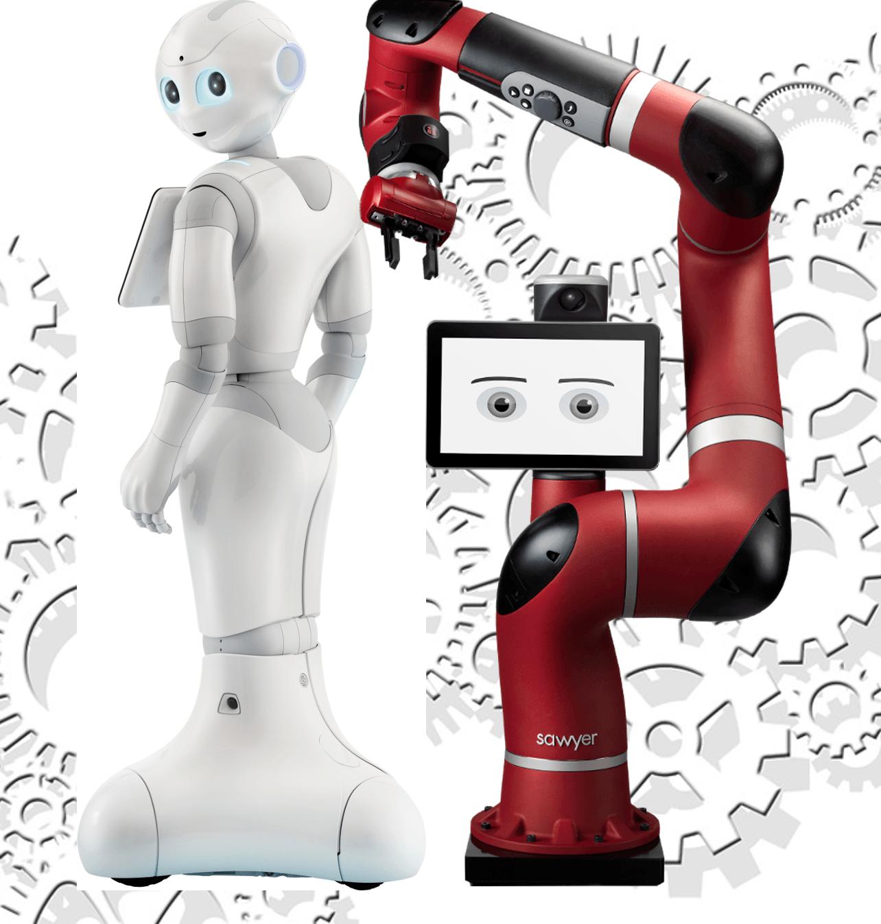 Les Robots Pepper et Sawyer