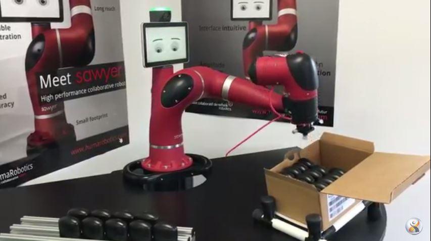 Robot collaboratif Sawyer sur une mise en carton