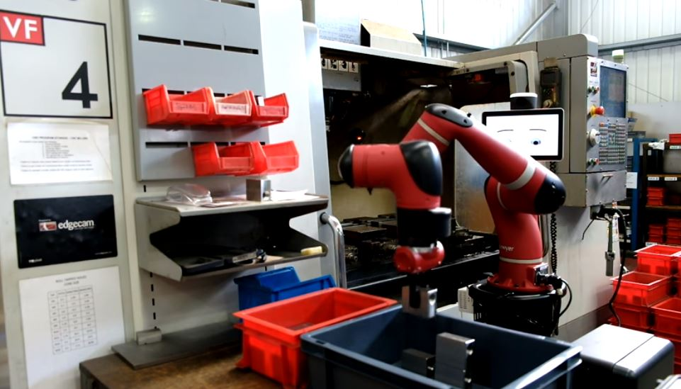 Cobot Sawyer sur Machine CN Haas