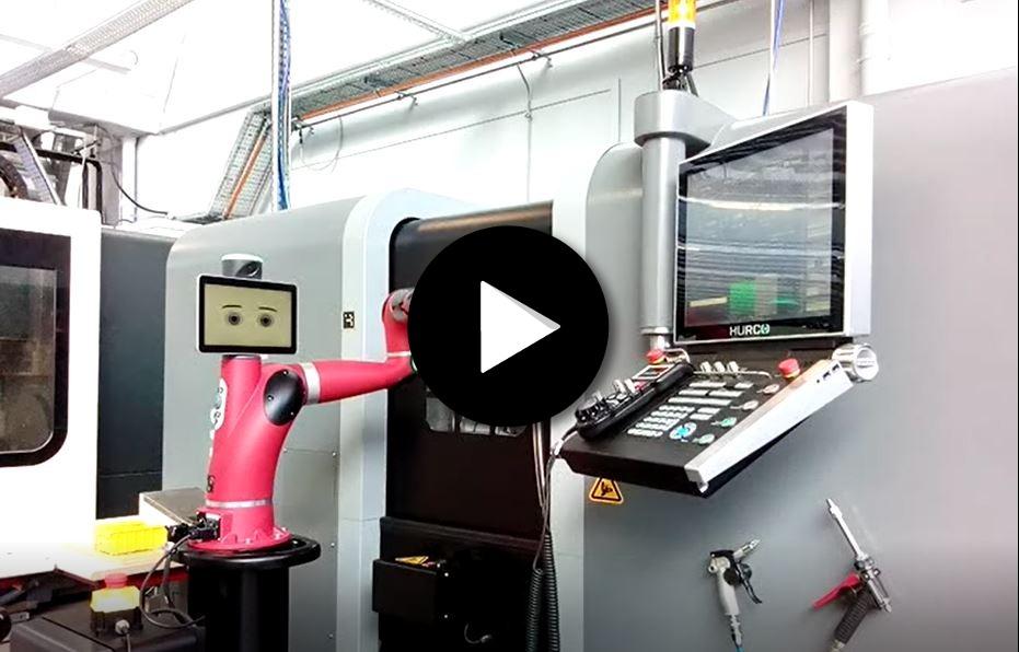 Robot collaboratif Sawyer sur usinage et chargement machines CN
