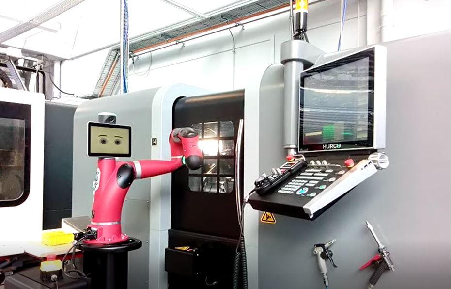 Chargement de machines CN réalisé par le robot collaboratif SAWYER