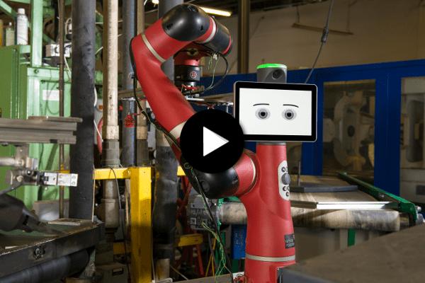 Robot collaboratif Sawyer dans entreprise de moulage par injection plastique