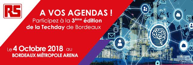 HumaRobotics participe à la Tech'Day de Bordeaux aux côtés de RS components