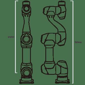 Données techniques robot collaboratif M0609 Doosan Robotics