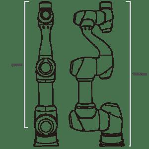 Données techniques robot collaboratif M1509 Doosan Robotics