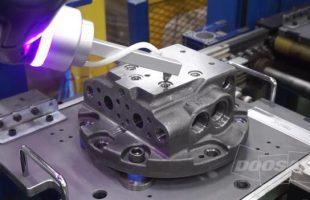 Application soufflage robots collaboratifs Doosan Robotics
