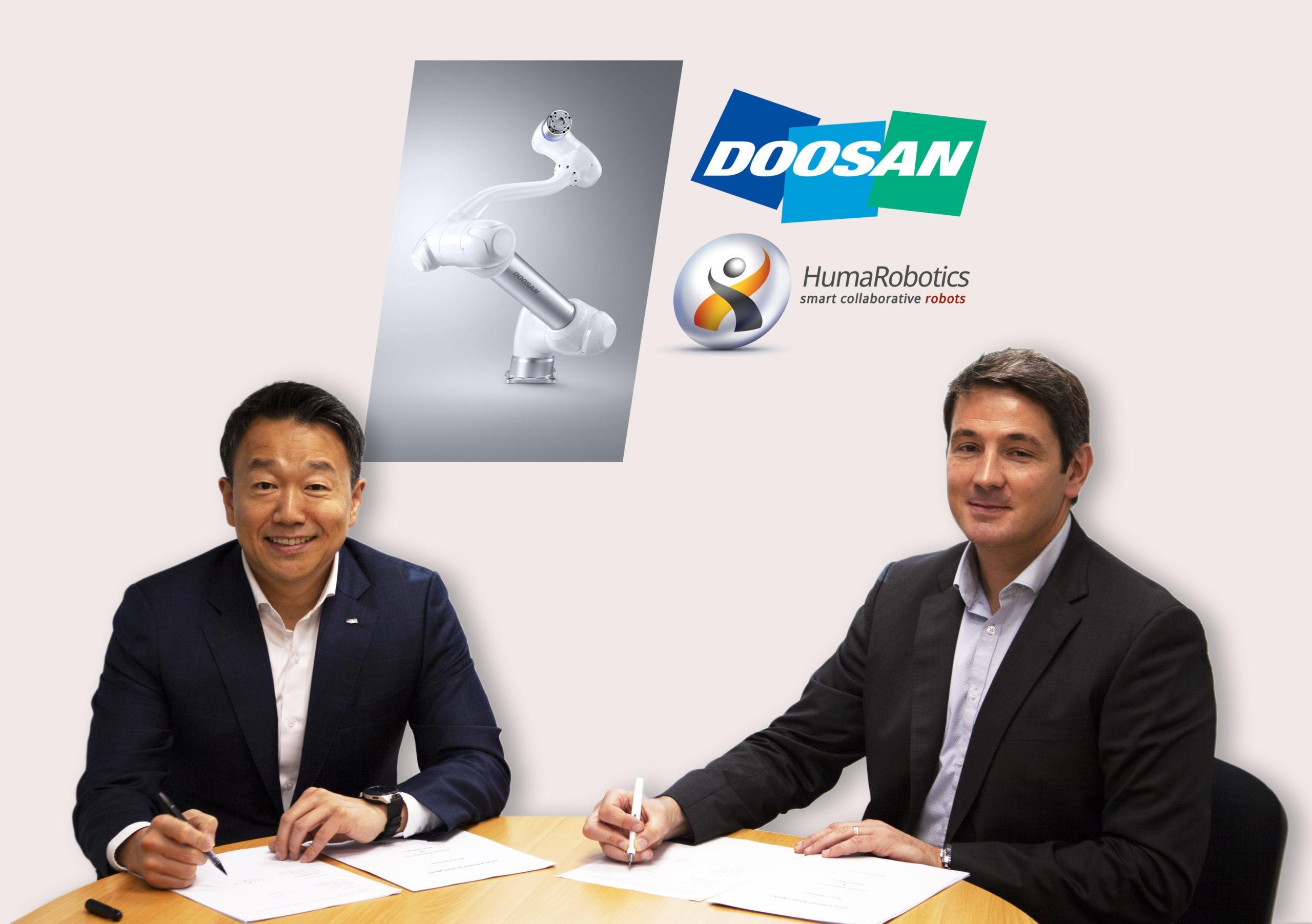 Partenariat HumaRobotics / Doosan Robotics