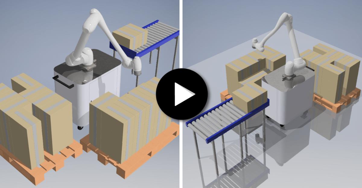 Robot collaboratif Doosan sur application de palettisation