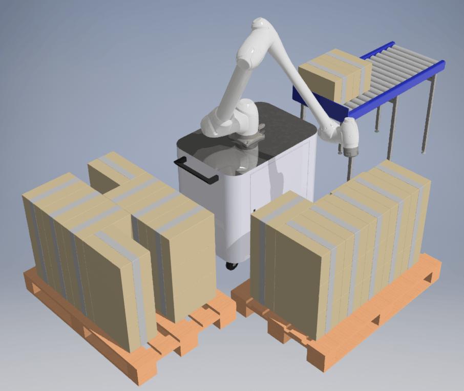 Double application de palettisation robot collaboratif doosan robotics