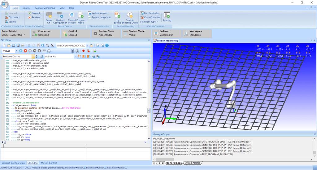 Logiciel de simulation Doosan Robotics DRCT