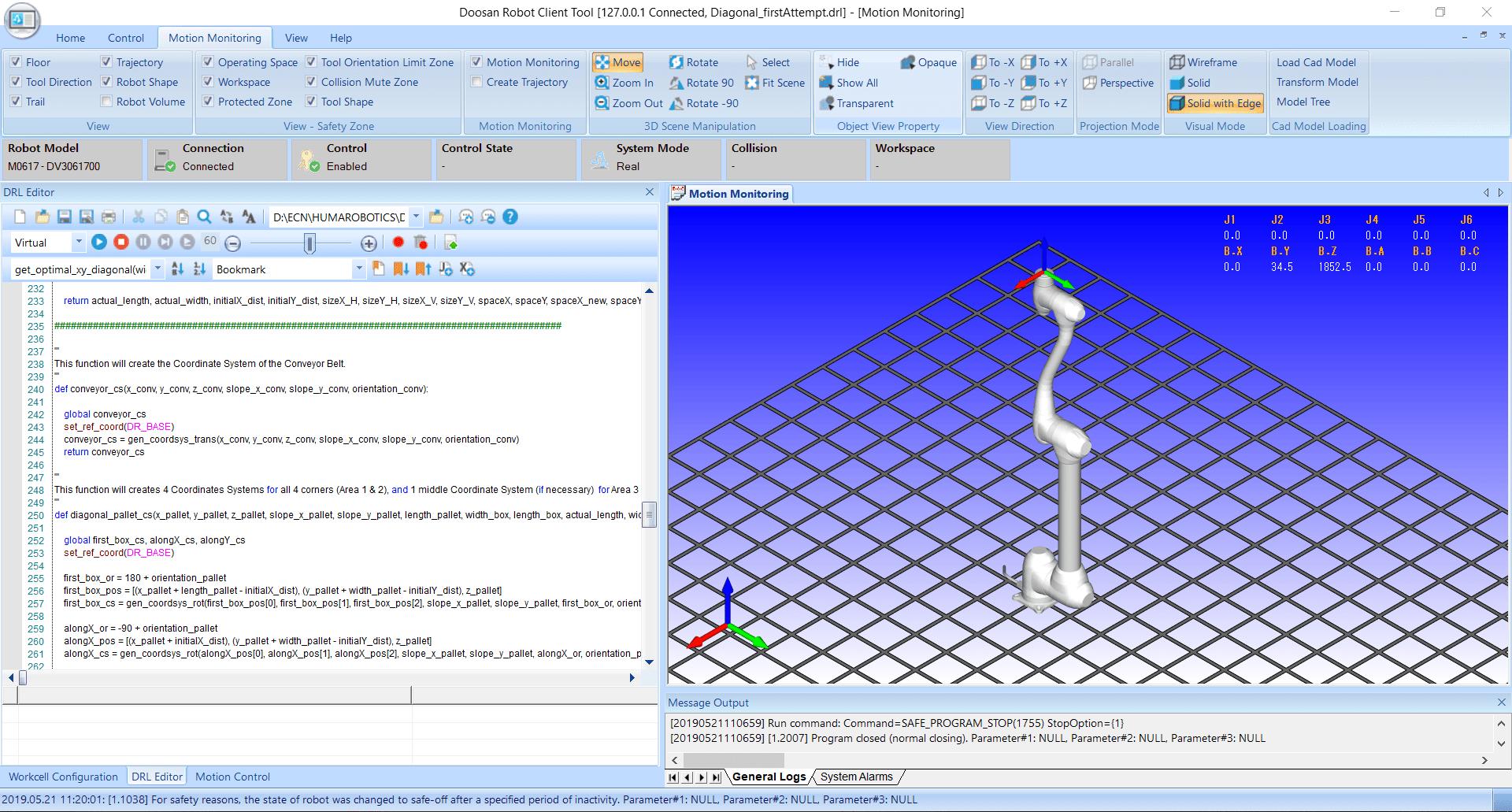 Présentation de l'interface générale du DRCT