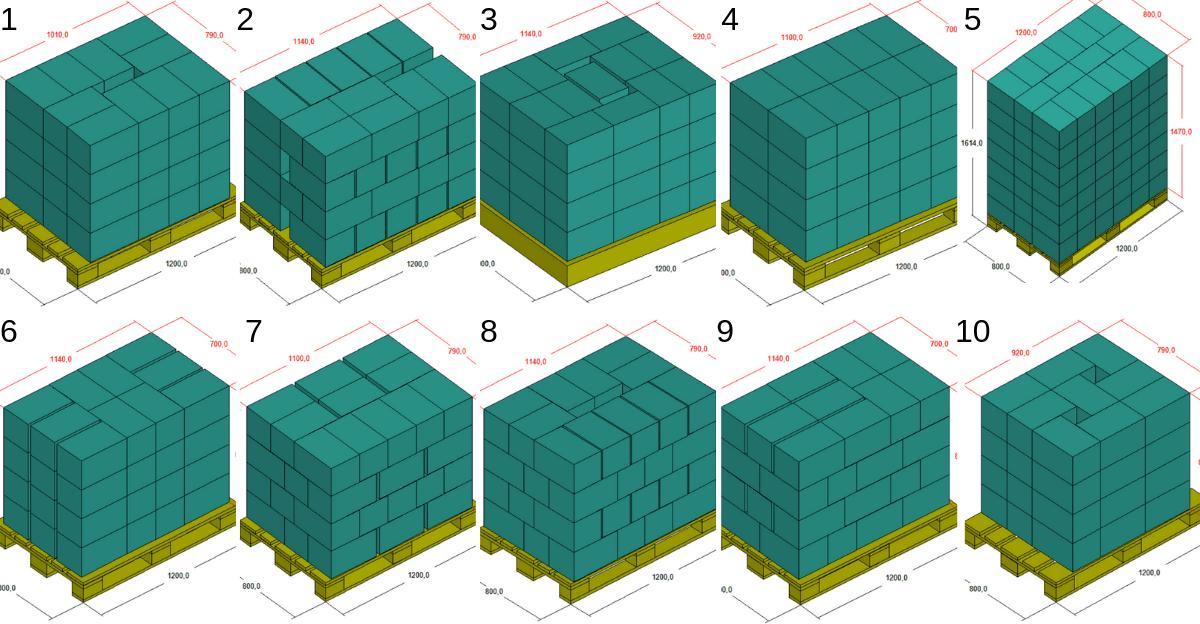 Schémas de palettisation Doosan Robotics